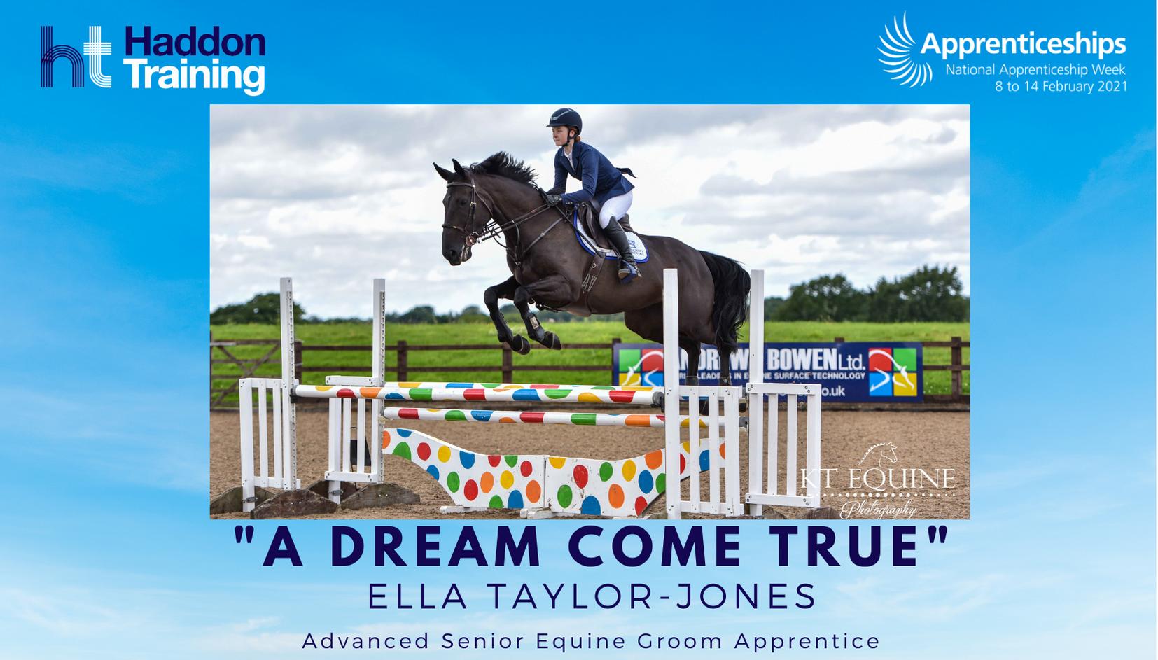 A dream come true - Ella Taylor-Jones